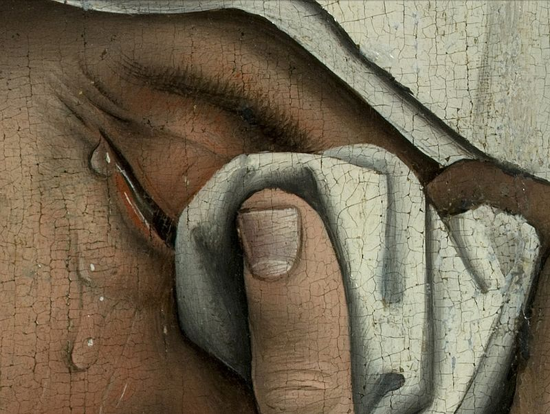 800px-Weyden,_Rogier_van_der_-_Descent_from_the_Cross_-_Detail_women_(left)